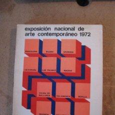 Libros de segunda mano: EXPOSICIÓN NACIONAL DE ARTE CONTEMPORANEO 1972 (CATÉLOGO GENERAL. Lote 102945667