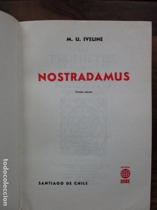 Libros de segunda mano: NOSTRADAMUS. M.U. IVELINE. 1973. - Foto 2 - 103021031