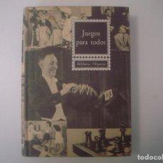 Libros de segunda mano: LIBRERIA GHOTICA. CARMIÑA VERDEJO. JUEGOS PATA TODOS. EDITORIAL SOPENA. 1965. MUY LUSTRADO. MAGIA.. Lote 103050823
