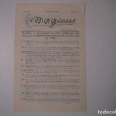 Libros de segunda mano: LIBRERIA GHOTICA. REVISTA DE ILUSIONISMO MAGICUS. VOL.1. NOVIEMBRE 1950. NUM.6. ILUSTRADO. MAGIA.. Lote 103052507