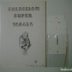 Libros de segunda mano: LIBRERIA GHOTICA. COLECCION SUPER MAGIA. 1980. EL DETECTOR DE MENTIRAS. INCLUYE JUEGO. FOLIO MENOR.. Lote 103121895