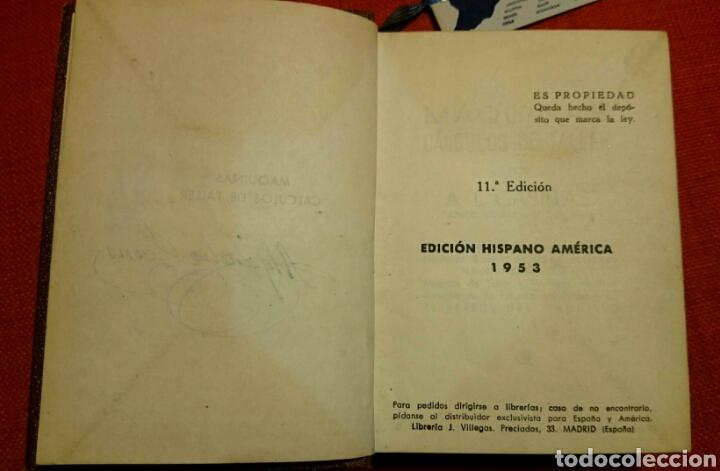 Libros de segunda mano: CASILLAS.MAQUINAS. CALCULOS DE TALLER.Edición Hispano Americana 1953. - Foto 6 - 103342098