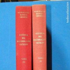 Libros de segunda mano: HISTORIA DEL NACIONALISMO CATALAN (1793-1936) 2 TO.OBRA COMPLETA.-GARCIA VENERO, MAXIMIANO. Lote 103412159