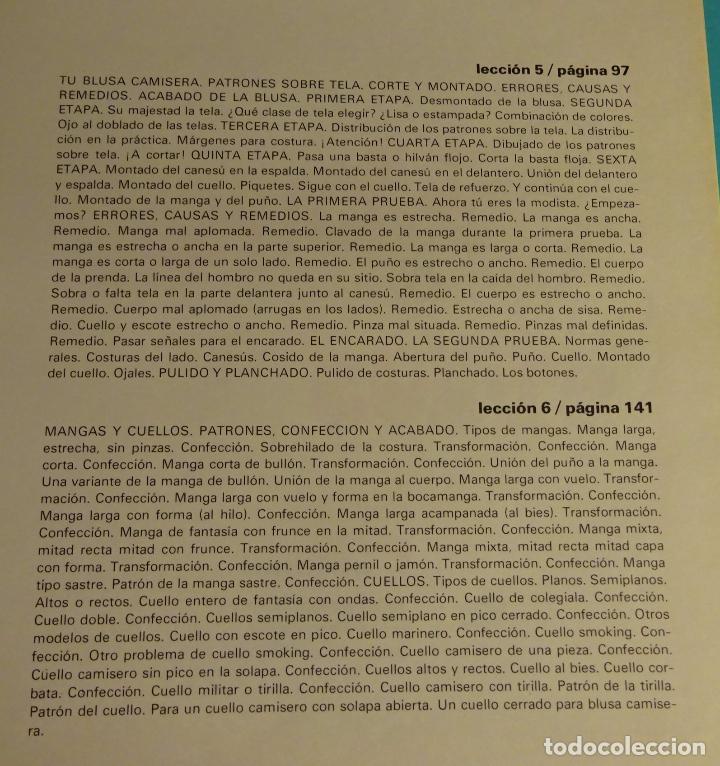Libros de segunda mano: MÉTODO PRÁCTICO DE CORTE Y CONFECCIÓN. AFHA. VOLÚMENES I, II, III, V. FALTA VOLUMEN IV - Foto 9 - 151885353