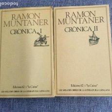 Libros de segunda mano: CRÒNICA I Y II. RAMON MUNTANER.. Lote 103566503