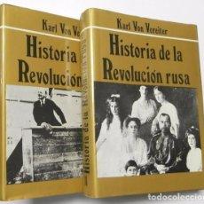 Libros de segunda mano: HISTORIA DE LA REVOLUCIÓN RUSA (2 TOMOS) - KARL VON VEREITER. Lote 103616659