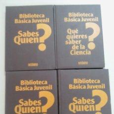 Libros de segunda mano: BIBLIOTECA BASICA JUVENIL-LOTE 8 TOMOS-COMPLETA-EDITORIAL OCEANO-1980-TAPA DURACOMPLETA-EDITA NOGUER. Lote 103618571