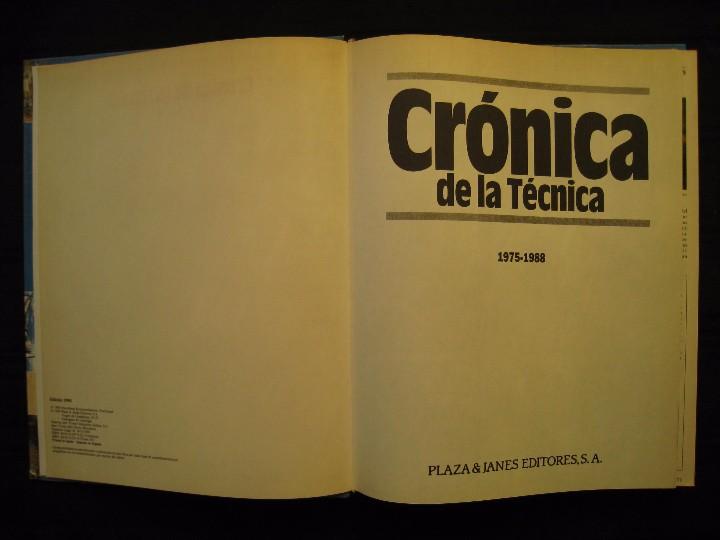 Libros de segunda mano: CRONICA DE LA TECNICA - 1975-1988 - Nº 4 - PLAZA & JANES EDITORES. - Foto 4 - 103693119