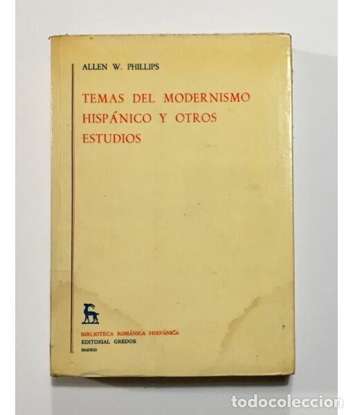 TEMAS DEL MODERNISMO HISPÁNICO Y OTROS ESTUDIOS (Libros de Segunda Mano (posteriores a 1936) - Literatura - Otros)