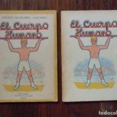 Libros de segunda mano: LIBRO ESCOLAR.EL CUERPO HUMANO.EDICIONES AFRODISIO AGUADO MADRID.1940 Y 1941.. Lote 103697095