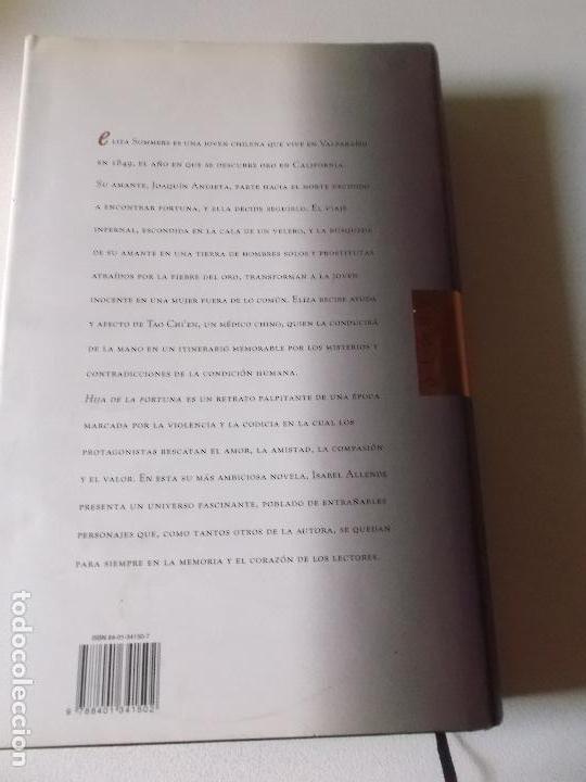 Libros de segunda mano: ISABEL ALLENDE HIJA DE LA FORTUNA 1999 ARETE - Foto 3 - 103768215