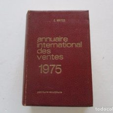 Libros de segunda mano: E. MAYER. ANNUAIRE INTERNATIONAL DES VENTES. PEINTURE – SCULPTURE. 1974. RM84420. . Lote 103769983