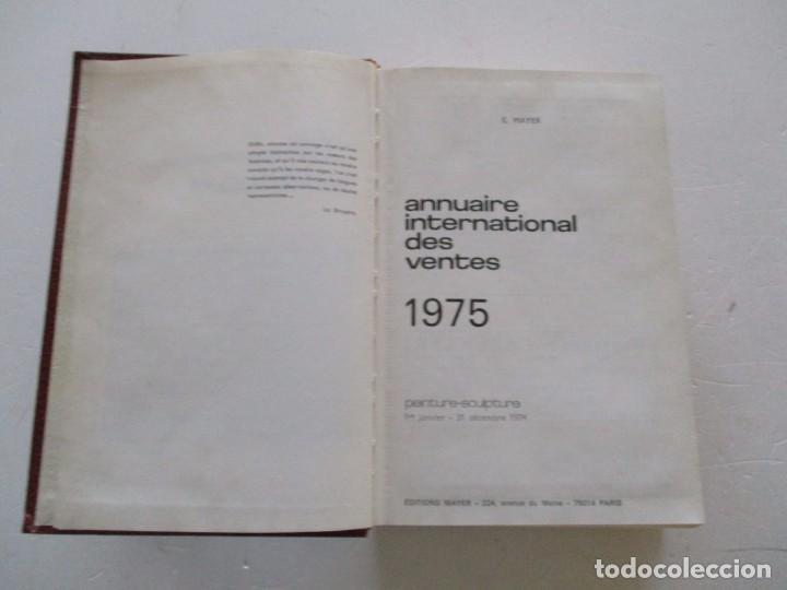 Libros de segunda mano: E. MAYER. Annuaire International des Ventes. Peinture – Sculpture. 1974. RM84420. - Foto 2 - 103769983