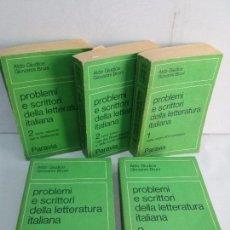 Libros de segunda mano: PROBLEMI E SCRITTORI DELLA LETTERATURA ITALIANA. TOMOS: 1-2-2-3-3. PARAVIA EDITORIAL 1973. VER FOTOS. Lote 103820419