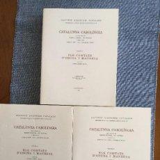 Libros de segunda mano: CATALUNYA CAROLÍNGIA, V. IV: 3 PARTS. ELS COMTATS D'OSONA I MANRESA. RAMON ORDEIG I MATA. O. C.. Lote 103821535