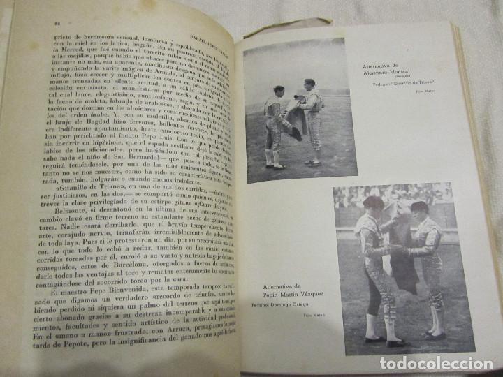 Libros de segunda mano: TOROS EN BARCELONA RAFAEL LOPEZ CHACON EDITORIAL BORRAS 1946 - Foto 10 - 103870203
