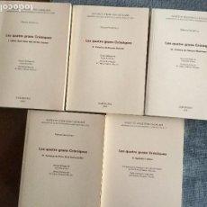 Libros de segunda mano: LES QUATRE GRANS CRÒNIQUES. VOLS: 5. F. SOLDEVILA. REVISIÓN FILOLÓGICA J. BRUGUERA. REV. HISTÒRICA. Lote 103951759