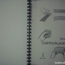 Libros de segunda mano: LIBRERIA GHOTICA. TECNICA CARTOMAGICA. NUMERO 4. FOLIO. 1977. MAGIA. . Lote 104082319
