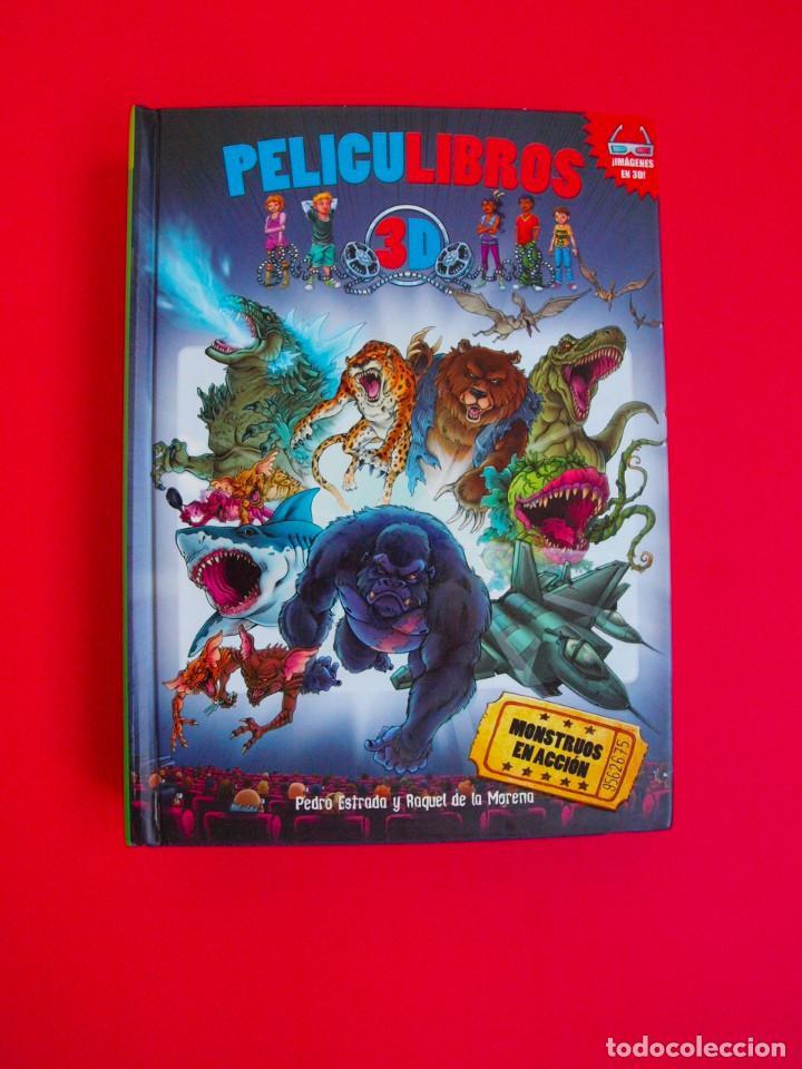 PELICULIBROS 3D Nº 1 - MONSTRUOS EN ACCIÓN - IMÁGENES 3D - INCLUYE GAFAS - 1ª ED. HIDRA 2011 (Libros de Segunda Mano - Literatura Infantil y Juvenil - Otros)