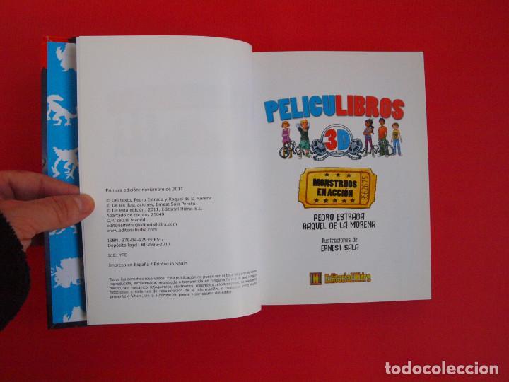 Libros de segunda mano: PELICULIBROS 3D Nº 1 - MONSTRUOS EN ACCIÓN - IMÁGENES 3D - INCLUYE GAFAS - 1ª ED. HIDRA 2011 - Foto 2 - 104084551
