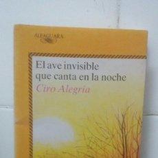 Libros de segunda mano: EL AVE INVISIBLE QUE CANTA EN LA NOCHE - OTA HOFMAN - JUVENIL ALFAGUARA Nº 363. Lote 104099063