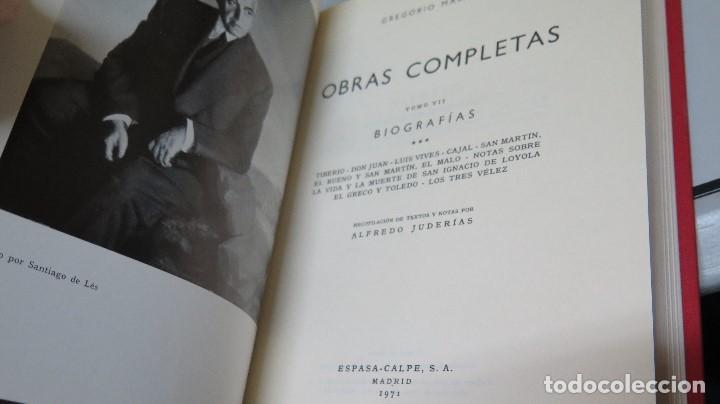 Libros de segunda mano: 1971.- BIOGRAFIAS. OBRAS COMPLETAS. MARAÑON. TOMO VII - Foto 2 - 104121331