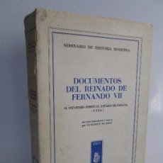 Libros de segunda mano: DOCUMENTOS DEL REINADO DE FERNANDO VII. FEDERICO SUAREZ. SEMINARIO DE HISTORIA MODERNA. Lote 104232127