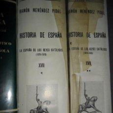 Libros de segunda mano: LA ESPAÑA DE LOS REYES CATÓLICOS, 2 TOMOS, MENÉNDEZ PIDAL. Lote 104356463