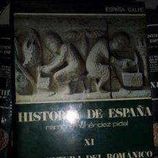 Libros de segunda mano: LA CULTURA DEL ROMÁNICO, SIGLOS XI AL XIII, TOMO XI, MENÉNDEZ PIDAL. Lote 104356739