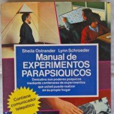 Livros em segunda mão: MANUAL DE EXPERIMENTOS PARAPSIQUICOS SHEILA OSTRANDE LYNN SCHROEDER EDITORIAL: FONTANA FANTASTICA. Lote 113456411