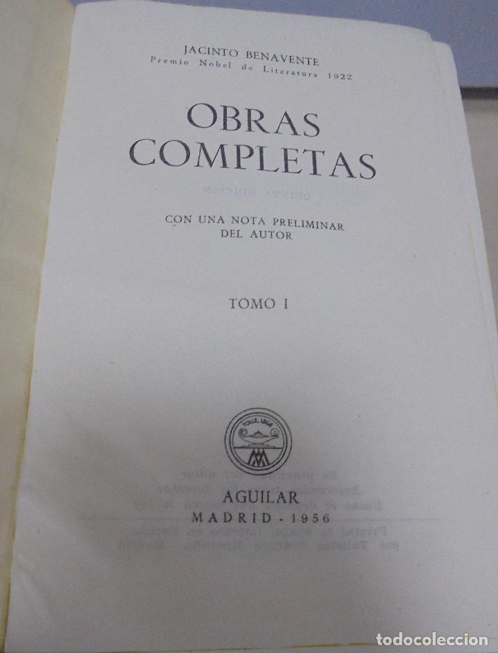 Libros de segunda mano: OBRAS COMPLETAS. JACINTO BENAVENTE. 11 TOMOS. EDITORIAL AGUILAR. 1956. VER CANTOS. - Foto 5 - 153653568