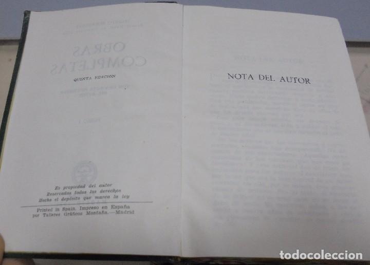 Libros de segunda mano: OBRAS COMPLETAS. JACINTO BENAVENTE. 11 TOMOS. EDITORIAL AGUILAR. 1956. VER CANTOS. - Foto 6 - 153653568