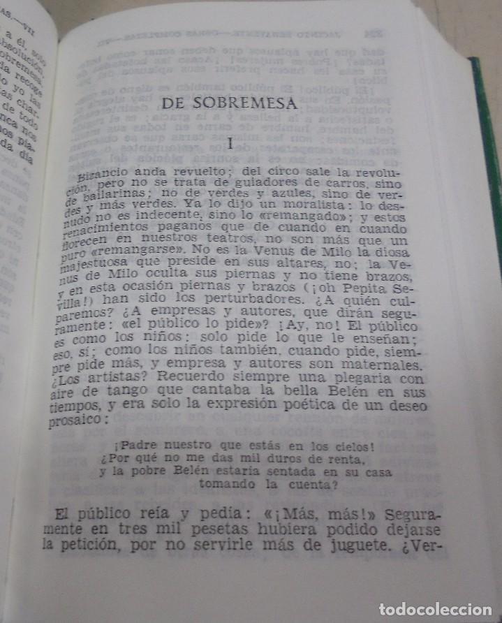 Libros de segunda mano: OBRAS COMPLETAS. JACINTO BENAVENTE. 11 TOMOS. EDITORIAL AGUILAR. 1956. VER CANTOS. - Foto 10 - 153653568