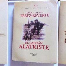 Libros de segunda mano: LOTE DE TRES, ARTURO PÉREZ - REVERTE, EL CAPITÁN ALATRISTE, LIMPIEZA DE SANGRE, EL SOL DE BREDA. Lote 104591919