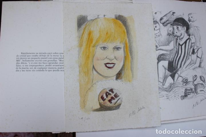 Libros de segunda mano: Alice in Wonderland. Lewis Carrol. R.P.D ADELA. Josep Carner. Marià Manent 1985. Libro artista único - Foto 13 - 104663355