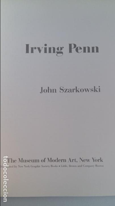Libros de segunda mano: THE MUSEUM OF MODERN ART, NEW YORK. IRBING PENN. SZARKOWSKI - Foto 2 - 104887199