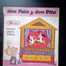 Libros de segunda mano: DON PATO Y DON PITO VERSOS PARA NIÑOS GLORIA FUERTES ILUSTRACIONES JULIO ÁLVAREZ . Lote 104954827