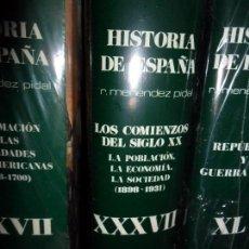 Libros de segunda mano: LOS COMIENZOS DEL SIGLO XX, XXXVII, MENÉNDEZ PIDAL, PRECINTADO. Lote 104979051