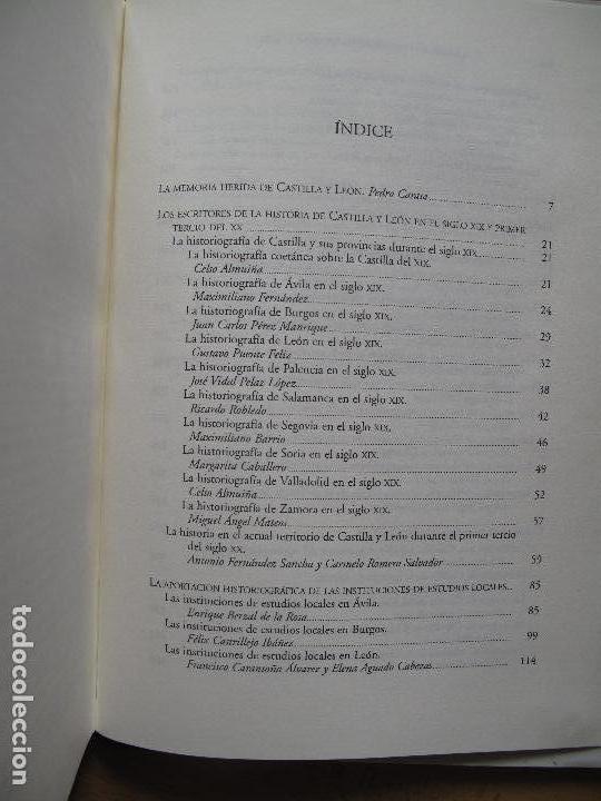 Libros de segunda mano: LA MEMORIA HISTÓRICA DE CASTILLA Y LEÓN. HISTORIOGRAFÍA CASTELLANA SIGLOS 19 Y 20.-PEDRO CARASA . - Foto 3 - 176876724