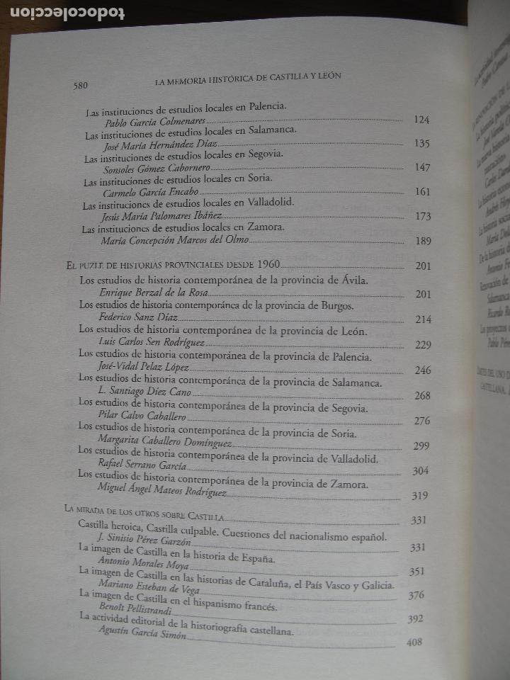 Libros de segunda mano: LA MEMORIA HISTÓRICA DE CASTILLA Y LEÓN. HISTORIOGRAFÍA CASTELLANA SIGLOS 19 Y 20.-PEDRO CARASA . - Foto 4 - 176876724