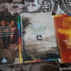 Libros de segunda mano: MITOS Y UTOPIAS DEL DESCUBRIMIENTO (3 VOL.), DE JUAN GIL. ALIANZA UNIVERSIDAD ¡SIN LEER!. Lote 105094063