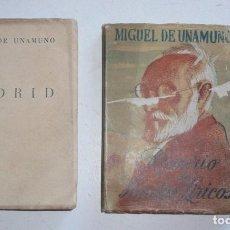 Libros de segunda mano: MIGUEL DE UNAMUNO - ROSARIO DE SONETOS LÍRICOS / MADRID (COLECCIÓN MÁS ALLÁ, AFRODISIO AGUADO). Lote 105116795