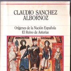 Libri di seconda mano: ORIGENES DE LA NACION ESPAÑOLA - EL REINO DE ASTURIAS - C SANCHEZ ALBORNOZ - 1985. Lote 105199867