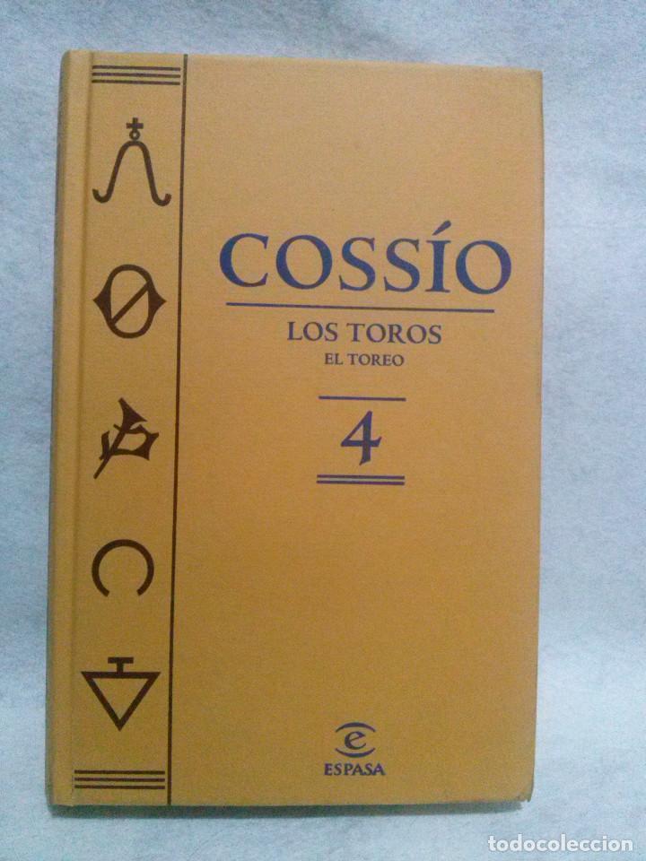 LOS TOROS DE COSSIO. EL TOREO TOMO 4 (ESPASA) (Libros de Segunda Mano - Bellas artes, ocio y coleccionismo - Otros)