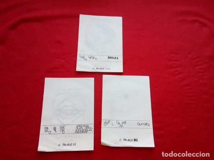 3 DIPTICOS DE POESIA EXPERIMENTAL EL PARAISO 14 15 Y 16 JOSE LUIS CAMPAL 21 CMS 150 GRS (Libros de Segunda Mano - Bellas artes, ocio y coleccionismo - Otros)