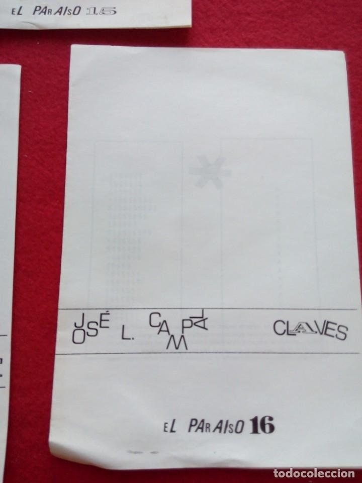 Libros de segunda mano: 3 DIPTICOS DE POESIA EXPERIMENTAL EL PARAISO 14 15 Y 16 JOSE LUIS CAMPAL 21 CMS 150 GRS - Foto 4 - 105251227