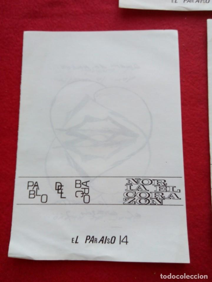 Libros de segunda mano: 3 DIPTICOS DE POESIA EXPERIMENTAL EL PARAISO 14 15 Y 16 JOSE LUIS CAMPAL 21 CMS 150 GRS - Foto 5 - 105251227