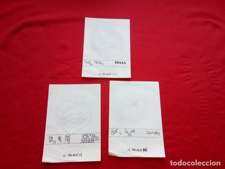 Libros de segunda mano: 3 DIPTICOS DE POESIA EXPERIMENTAL EL PARAISO 14 15 Y 16 JOSE LUIS CAMPAL 21 CMS 150 GRS - Foto 6 - 105251227