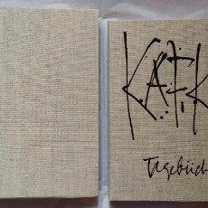 Libros de segunda mano: ANTONIO SAURA: DIARIOS DE KAFKA- TAGEBUCHER, LIBRO DE ARTISTA 1988 / 69 LITOGR. / FIRMADO Y Nº.. Lote 105470388