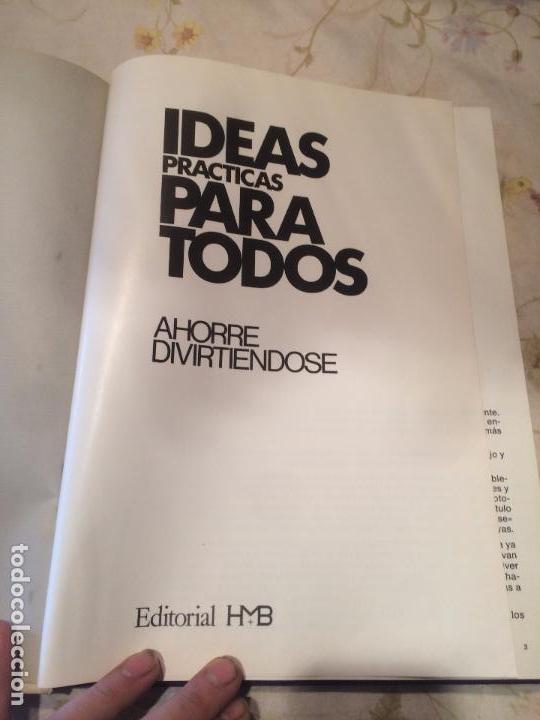 Libros de segunda mano: Antiguo libro IDEAS PRACTICAS PARA TODOS AHORRE DIVIRTIENDOSE. CAJA AHORROS de Manresa - Foto 4 - 105620903